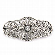 BROCHE DE PLATA CON SIMIL DE DIAMANTE