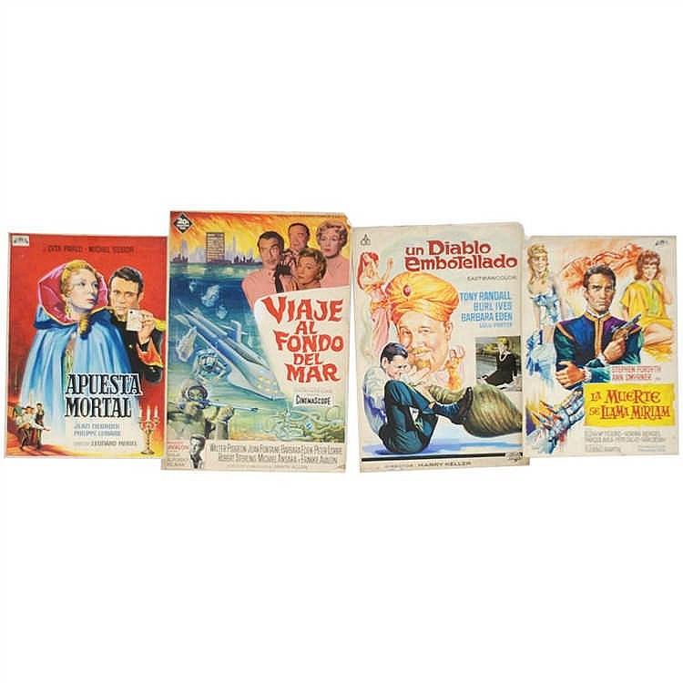 Cuatro carteles originales de cine - Carteles originales ...