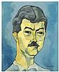 OSWALDO GUAYASAMIN (1919-1999) óleo sobre lienzo.
