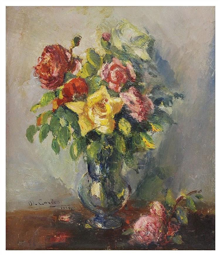 DOMINGO CARLES (1888-1962) óleo sobre lienzo.