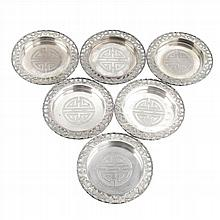 CHINESE SILVER BREAD DISHES