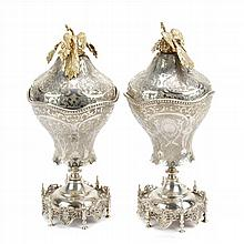 TWO SILVER CUPS, CIRCA 1900