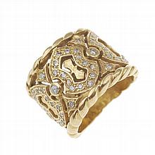 GOLD CARVED RING
