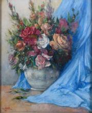 "JOSEP VENTOSA DOMÈNECH (1897-1982) ""FLOWERS VASE"", 1945."