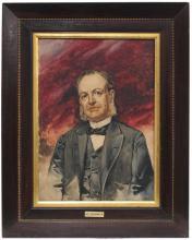 """ENRIQUE CASANOVA (1850-1913) """"MALE PORTRAIT""""."""
