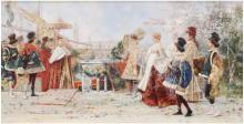 """SALVADOR SÁNCHEZ BARBUDO (1857-1917) """"CATALINA CORNARO'S EN"""