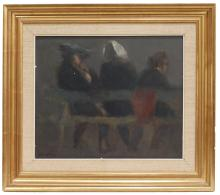 """IGNACIO GARCÍA ERGÜIN (1934). """"Three women from behind""""."""