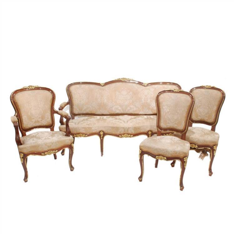 Juego de canap sof y pareja de sillas for Canape poltrone e sofa