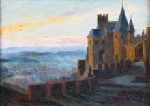 """LLUIS MASRIERA (1872-1958) """"CASTLE""""."""