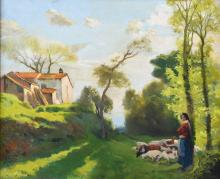 "LLUIS MASRIERA (1872-1958) ""LA PASTORCILLA""."