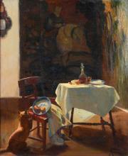 "LLUÍS MASRIERA (1872-1958). ""INTERIOR OF MASRIERA WORKSHOP-TEMPLE"", 1909 or 1919."