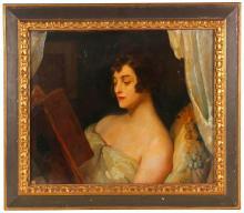 "LLUIS MASRIERA (1872-1958) ""THE READING""."