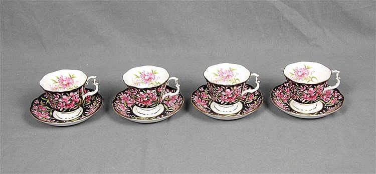 AN ENGLISH PORCELAIN TEA SET