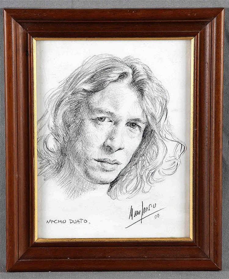 """MAMPASO, MANUEL. """"Retrato de Nacho Duato"""""""