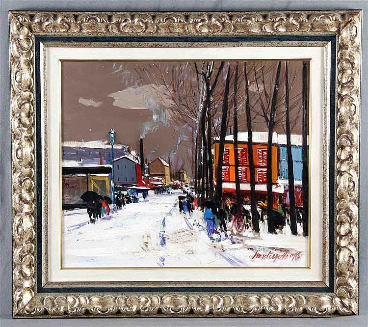 "MONTEAGUDO, PHILIPPE (Paris, 1936 - Fuentealbilla, Albacete, 2016). ""Snowy Landscape"""
