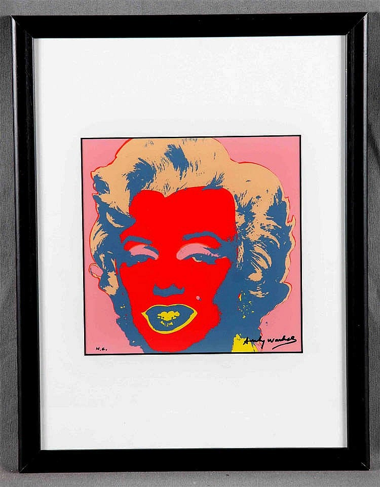 "WARHOL, ANDY. ""Marilyn Monroe. Portrait-Variante 10/10"""