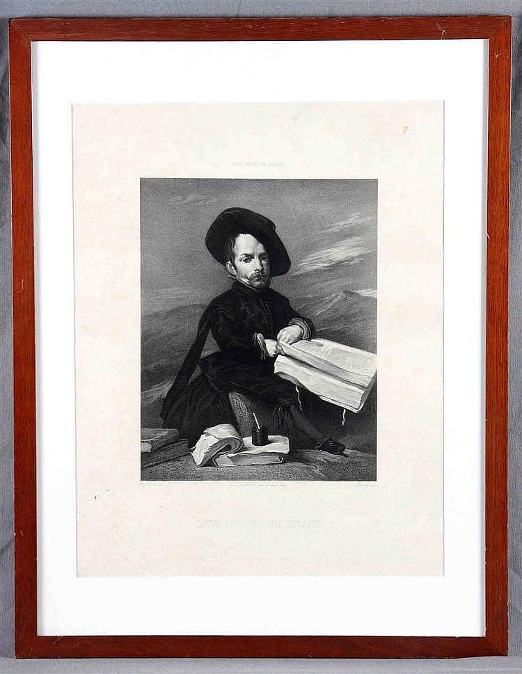 """LEMOINE, A. """"Retrato de un enano"""""""