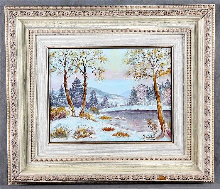 """COBO, J. """"Snowy Landscape"""""""