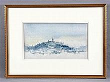 "HAMILTON, PATRICK (1923). ""Sunset"". Pencil and watercolour drawing"