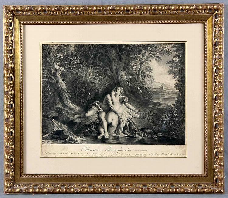 "TROY DAULLÉ, J. 18TH CENTURY ""SALMACIS ET HERMAPHRODITE"""