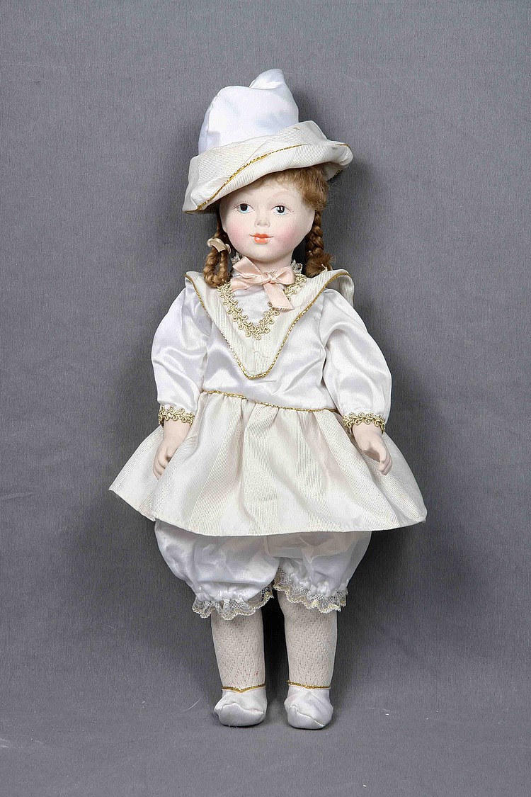 A POLYCHROME BISQUE DOLL, CIRCA 1930