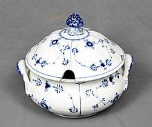 A EUROPEAN POLYCHROME PORCELAIN TUREEN