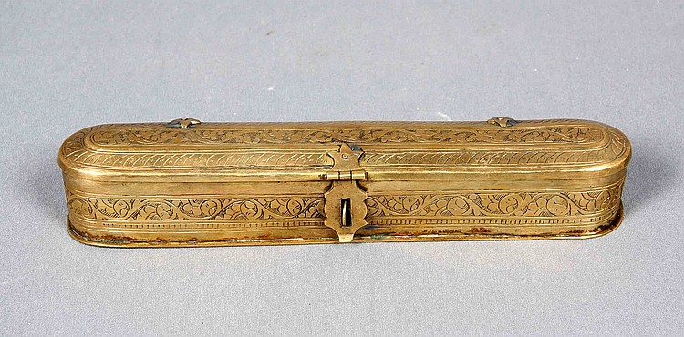 A GILT METAL BOX