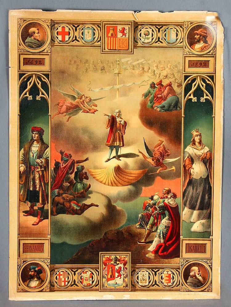 """ALESS, J. """"CONMEMORACIÓN DEL IV CENTENARIO DEL DESCUBRIMIENTO DE AMÉRICA, 1492-1892""""."""