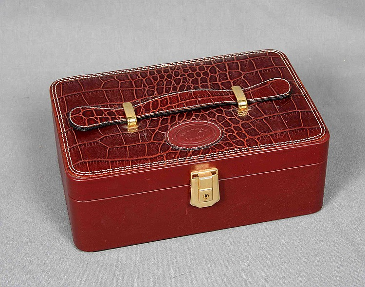 EL CORTE INGLÉS LEATHER TRAVEL JEWELRY BOX