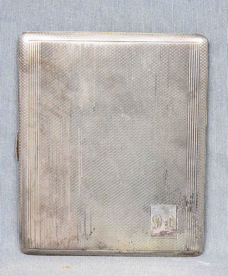 AN ENGLISH SILVER CIGARETTE CASE