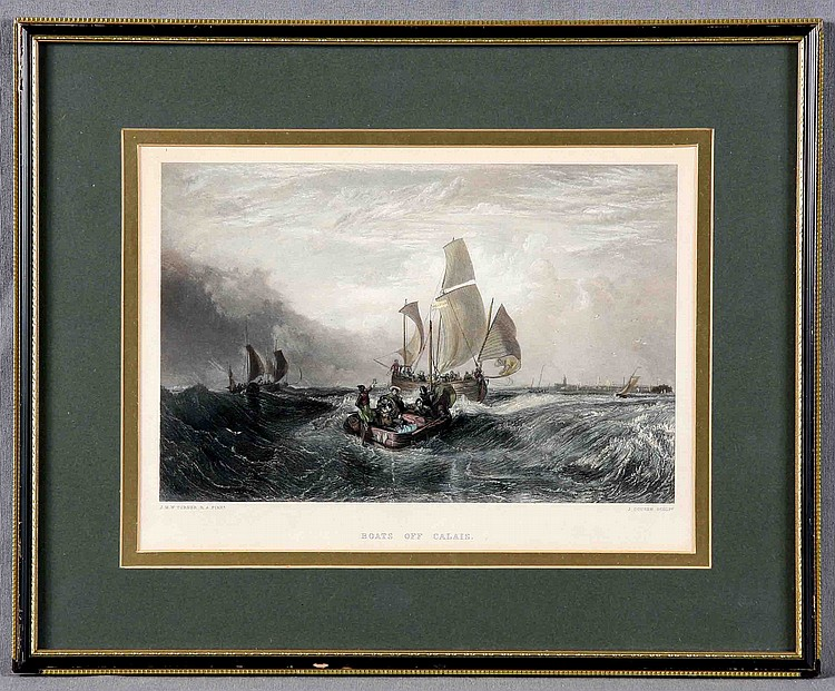 "TURNER, J.M.W. ""BOATS OF CALAIS"""