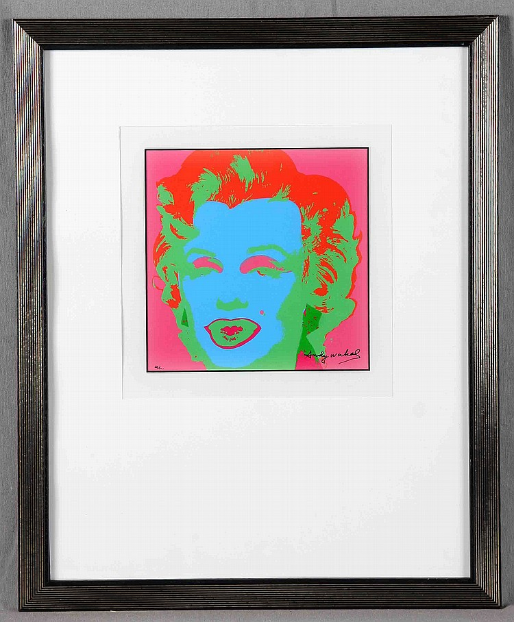 "WARHOL, ANDY. ""MARILYN MONROE, PORTRAIT 04/10"""