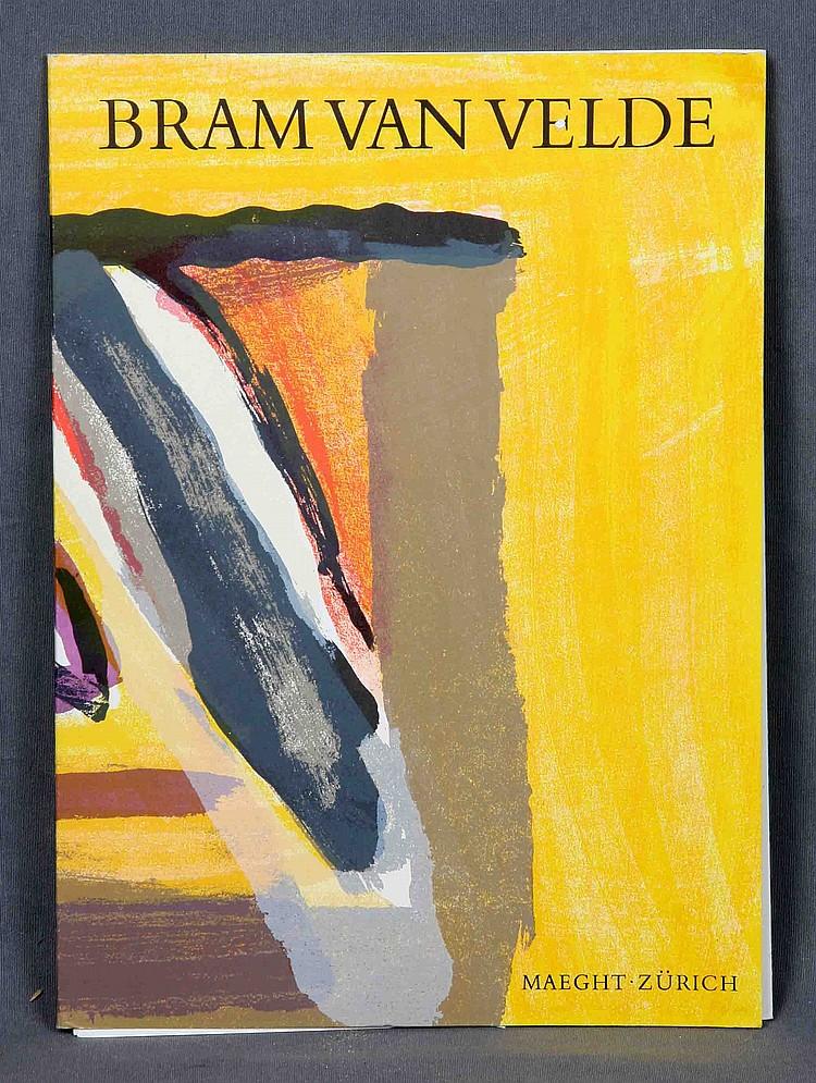 """VAN VELDE, BRAM. """"EXHIBITION CATALOGUE"""". GALERIE MAEGHT. ZÜRICH, 1976."""