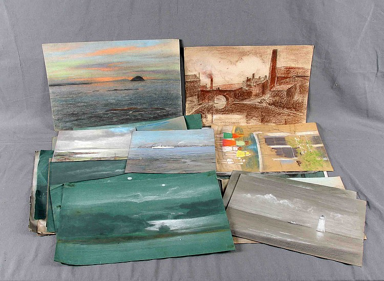 A SET OF 20 WAX PAINTINGS