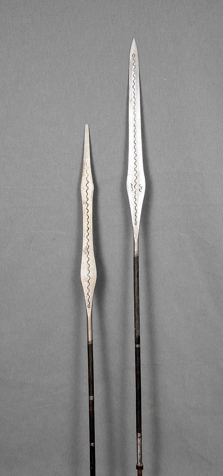 A PAIR OF TUAREG TRIBE IRON SPEARS
