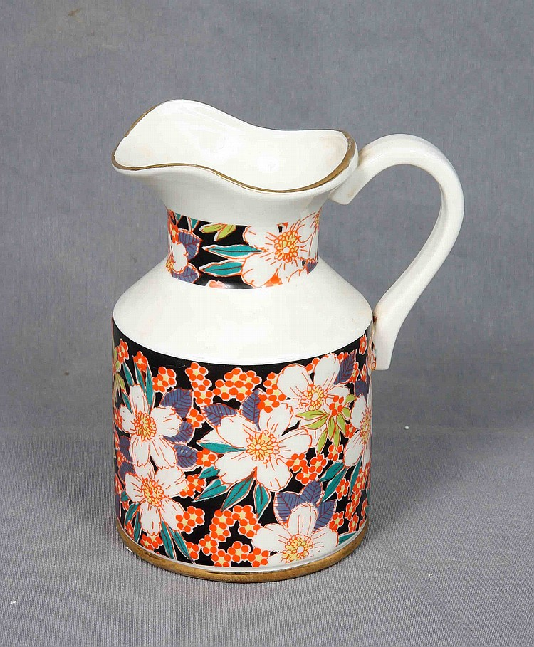 HISPANIA POLYCHROME PORCELAIN PITCHER