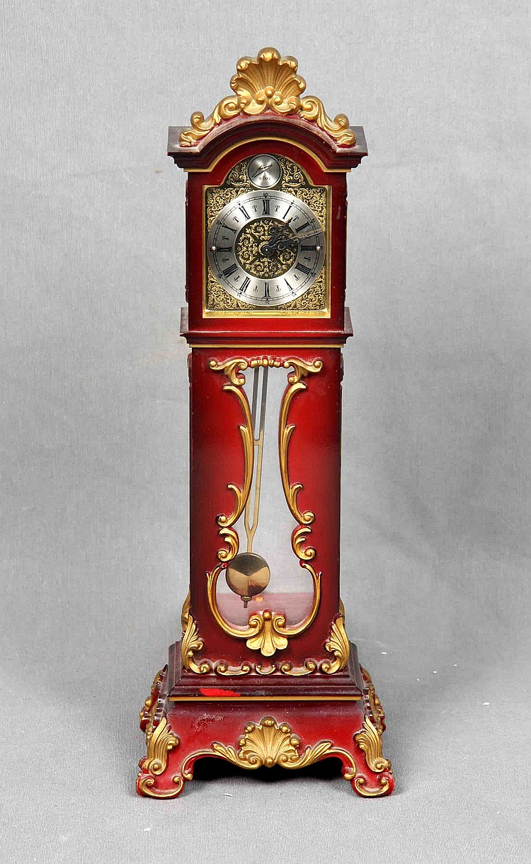 A GERMAN TABLE CLOCK