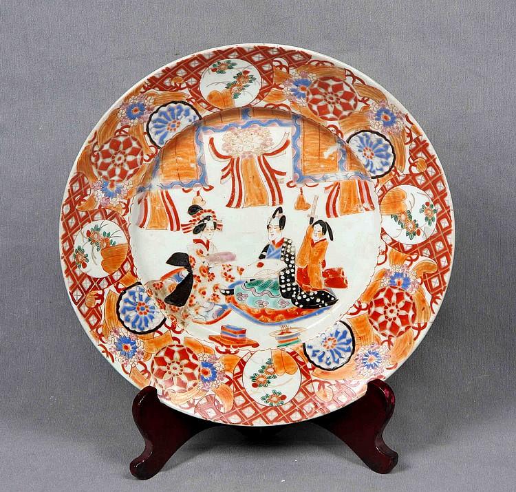 IMARI JAPANESE PORCELAIN DISH, 19TH CENTURY