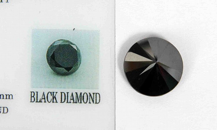 A BLACK DIAMOND 11.20 CARAT