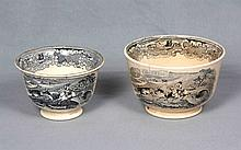 A PAIR OF CERAMIC BOWLS