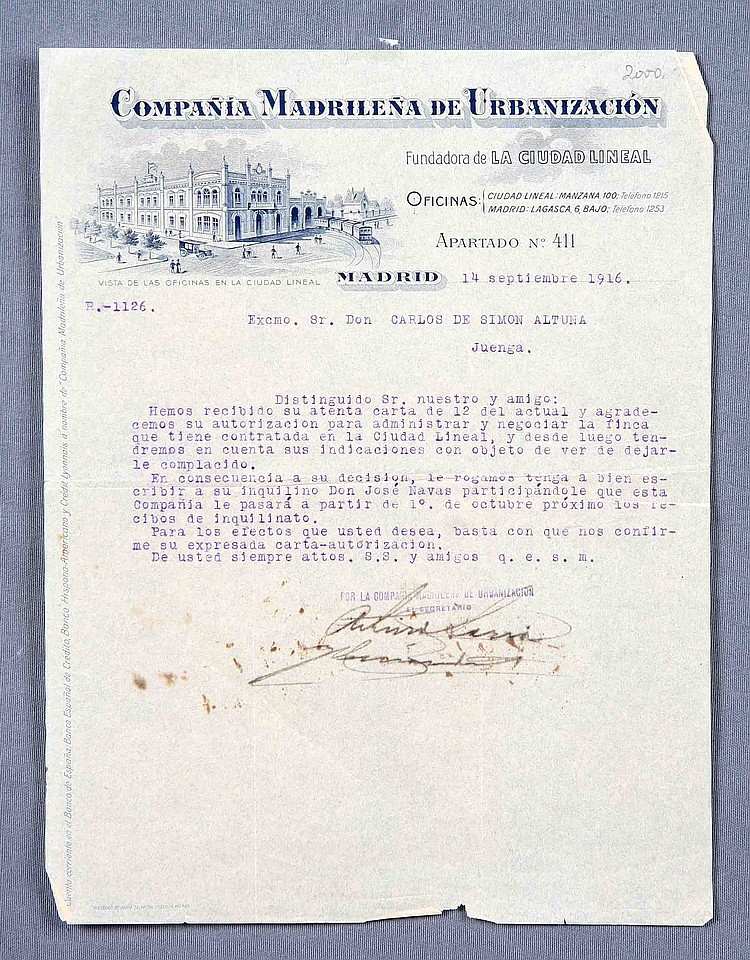 A DOCUMENT SIGNED BY D. ARTURO SORIA