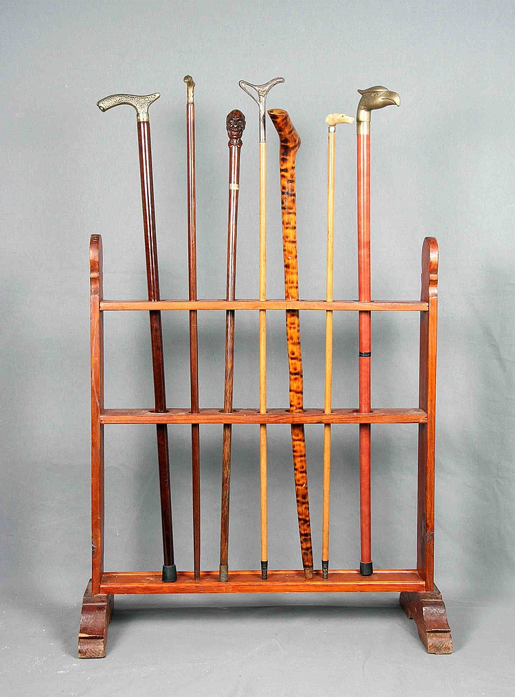 A SET OF SEVEN WOOD CANES