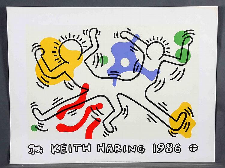 """HARING, KEITH. """"10 DE SEPTIEMBRE DE 1986"""""""