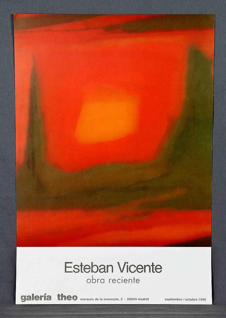 VICENTE, ESTEBAN. A LITHOGRAPH POSTER
