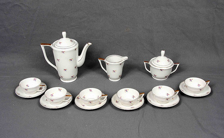 JAGER GERMAN PORCELAIN COFFEE SET