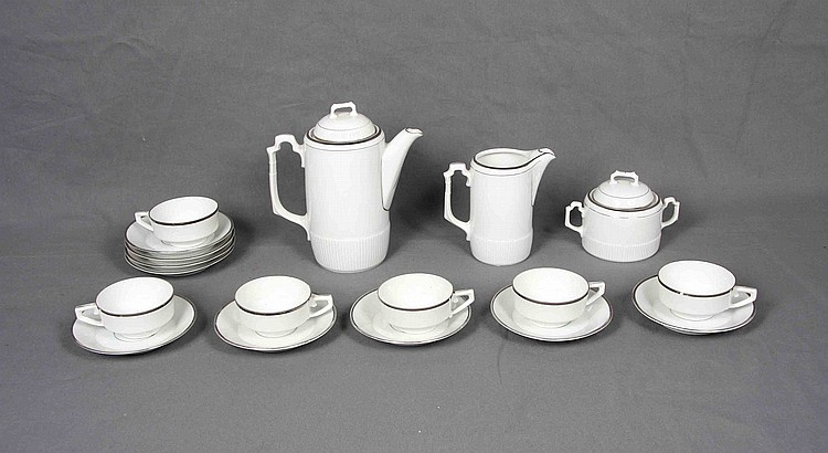 A EUROPEAN WHITE PORCELAIN COFFEE SET