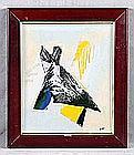 "ALLIGAND, BERNARD (1953). ""Composition"". Mixed media on hardboard"
