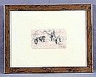 """RAMOS ARTAL, MANUEL (1855-1916). """"El cementerio"""". Pencil drawing"""