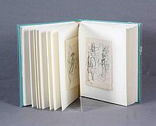 GRAU SALA, EMILIO (1911-1975). Colección de 33 dibujos a tinta sobre papel, de 13x18,5 cm. aprox. c/u.Conjunto de ilustraciones, bocetos originales previos a las 128 acuarelas realizadas por el artista para ilustrar la edición del cincuentenario de