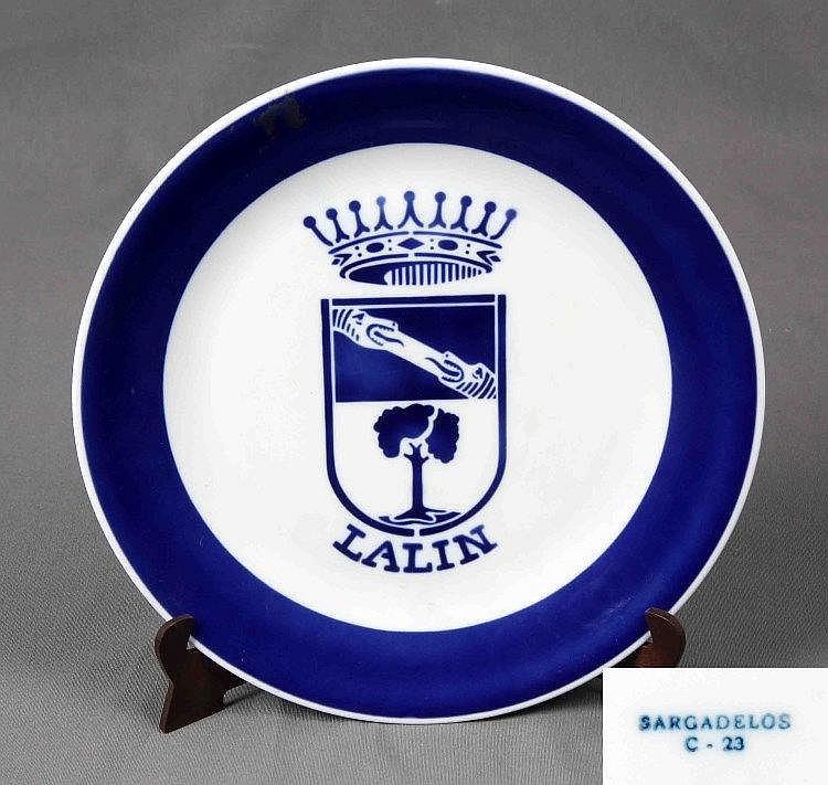 Sargadelos plato en cer mica sello y numeraci n en la base - Ceramica de sargadelos ...